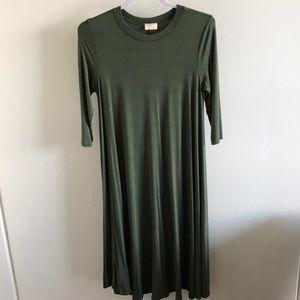 Olive Green Swing Dress